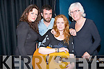 MUSIC: Karrie who played her new song from her new CD at Siamsa Tire,Tralee on Wednesday night with Karrie L-r: Yvonne Daly, Mick Flannery, Karrie and Elaine.............