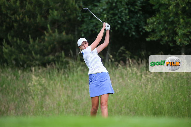 Meghan MacLaren during Friday Foursomes at the 2016 Curtis Cup, played at Dun Laoghaire GC, Enniskerry, Co Wicklow, Ireland. 10/06/2016. Picture: David Lloyd | Golffile. <br /> <br /> All photo usage must display a mandatory copyright credit to &copy; Golffile | David Lloyd.