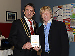 Mayor of Drogheda Richie Culhane and Gerry Simpson at the Augustinian Gospel Choir show at the Barbican Centre. Photo:Colin Bell/pressphotos.ie