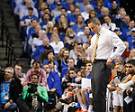 Florida Head Coach Mike White frustrated with his teams performance during the UK Men's Basketball vs. Florida Gators game at Rupp Arena. Saturday, February 6, 2016 in Lexington, Ky. UK defeated Florida 80 - 61