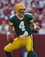 31 October 2004:  Brett Favre..The Green Bay Packers defeated the Washington Redskins 28-14 October 31, 2004 at FedEx Field in Landover MD...