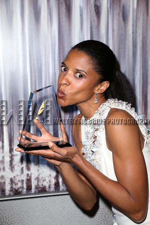 Renee Elise Goldsberry visits the 2015 Drama Desk Awards Media Room at Marriott Marquis Times Square on May 31, 2015 in New York City.