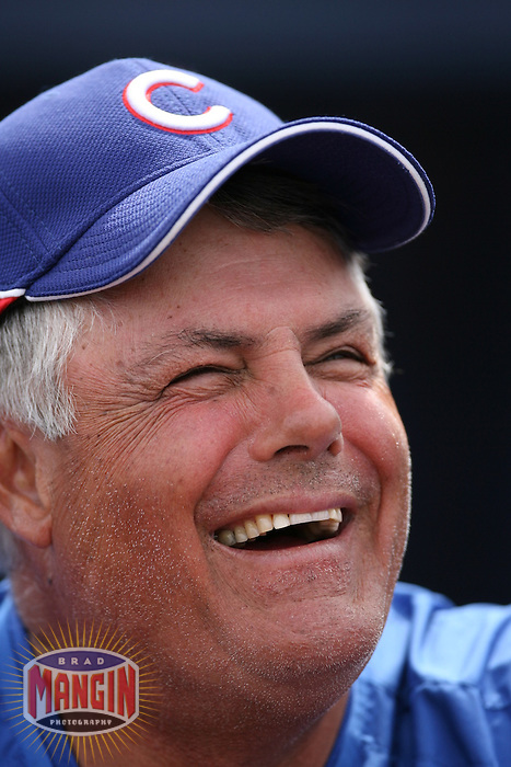 Cubs manager Lou Piniella. Chicago Cubs vs Seattle Mariners in Peoria, AZ on March 5, 2007. Photo by Brad Mangin