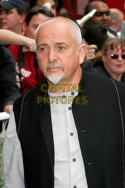 PETER GABRIEL.Arrivals at the Ivor Novello Awards, Grosvenor House, London, England..May 24th, 2007.headshot portrait goatee facial hair black .CAP/AH.©Adam Houghton/Capital Pictures