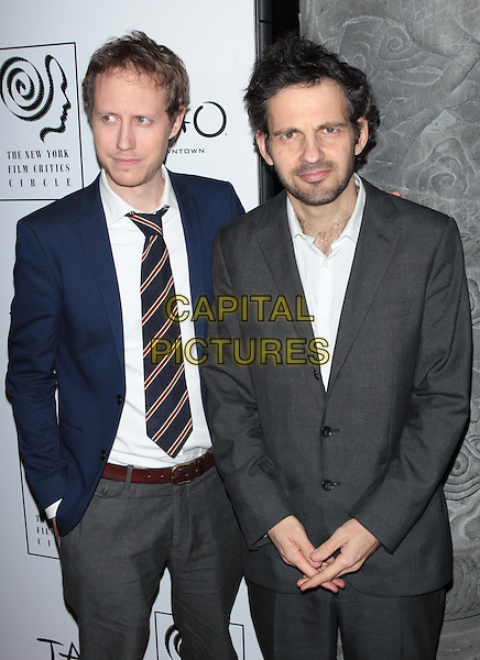 NEW YORK, NY - JANUARY 4:   G&eacute;za R&ouml;hrig and L&aacute;szl&oacute; Nemes at the New York Film Critics Circle Awards at TAO Downtown in New York City on January 4, 2016. <br /> CAP/MPI99<br /> &copy;MPI99/Capital Pictures