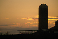 Silo at Sunset