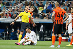 Real Madrid´s Cristiano Ronaldo during Champions League soccer match between Real Madrid and Shakhtar Donetsk at Santiago Bernabeu stadium in Madrid, Spain. Spetember 15, 2015. (ALTERPHOTOS/Victor Blanco)