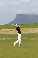 Richard O'Donovan (Lucan) on the 14th during round 2 of The West of Ireland Amateur Open in Co. Sligo Golf Club on Saturday 19th April 2014.<br /> Picture:  Thos Caffrey / www.golffile.ie