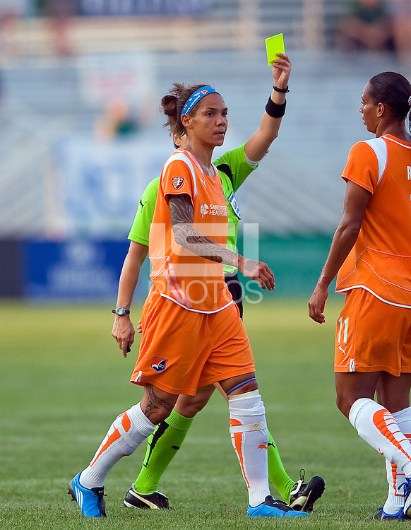 Sky Blue FC forward Natasha Kai (6) during a WPS match at Anheuser Busch Soccer Park, in St. Louis, MO, July 22 2009. Athletica won the match 1-0.