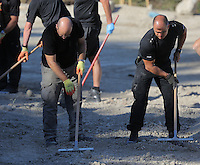 Pictured: Forensics officers searching at the farmhouse site in Kos, Greece. Sunday 09 October 2016<br /> Re: Police teams led by South Yorkshire Police, searching for missing toddler Ben Needham on the Greek island of Kos have moved to a new area in the field they are searching.<br /> Ben, from Sheffield, was 21 months old when he disappeared on 24 July 1991 during a family holiday.<br /> Digging has begun at a new site after a fresh line of inquiry suggested he could have been crushed by a digger.