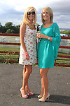 Laurna Lynch and Siobhan Casement at Bellewstown races.Picture Fran Caffrey www.newsfile.ie