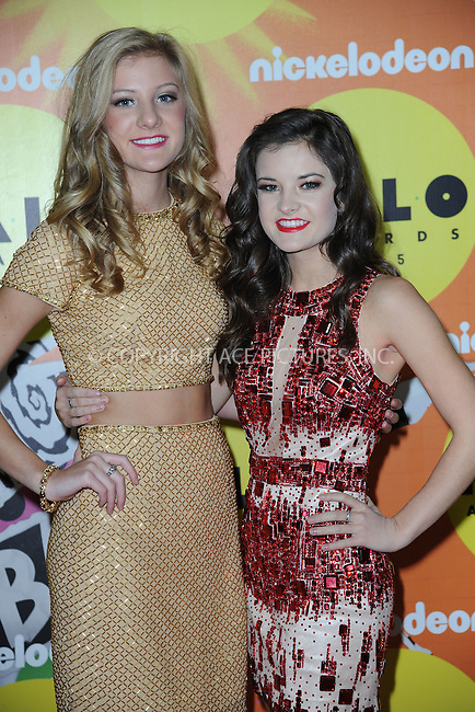 WWW.ACEPIXS.COM<br /> November 14, 2015 New York City<br /> <br /> Paige Hyland and Brooke Hyland attending the 2015 Nickelodeon HALO Awards at Pier 36 on November 14, 2015 in New York City.<br /> <br /> Credit: Kristin Callahan/ACE<br /> Tel: (646) 769 0430<br /> e-mail: info@acepixs.com<br /> web: http://www.acepixs.com