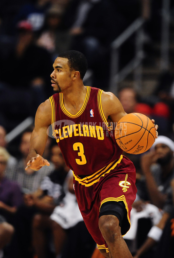 Jan. 12, 2012; Phoenix, AZ, USA; Cleveland Cavaliers guard Ramon Sessions during the game against the Phoenix Suns at the US Airways Center. The Cavaliers defeated the Suns 101-90. Mandatory Credit: Mark J. Rebilas-USA TODAY Sports