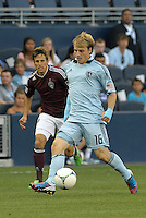 Sporting KC defender Seth Sinovic in action..Sporting Kansas City defeated Colorado Rapids 2-0 in Open Cup play at LIVESTRONG Sporting Park, Kansas City, Kansas.