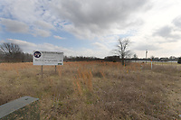 NWA Democrat-Gazette/J.T. WAMPLER A sign announcing the Shaw Park project is at the southeast corner of Ball Rd and Down Rd in Springdale Tuesday Feb. 5, 2019.