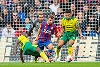 Spot kick to Crystal Palace; Norwich City Ibrahim Amadou  faul Crystal Palace James McArthur in penalty area during the Premier League match between Crystal Palace and Norwich City at Selhurst Park, London, England on 28 September 2019. Photo by Andrew Aleksiejczuk / PRiME Media Images.