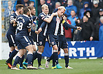 Andrew Davies is congratulated on his goal for Ross County