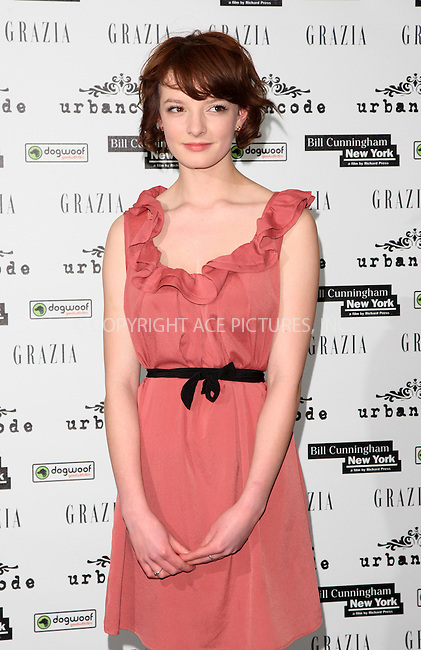 WWW.ACEPIXS.COM . . . . .  ..... . . . . US SALES ONLY . . . . .....February 1 2012, London....Dakota Blue Richards at the premiere of 'Bill Cunningham New York'  on February 01 2012 in London....Please byline: FAMOUS-ACE PICTURES... . . . .  ....Ace Pictures, Inc:  ..Tel: (212) 243-8787..e-mail: info@acepixs.com..web: http://www.acepixs.com