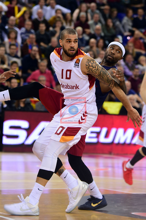 Turkish Airlines Euroleague 2016/2017.<br /> Regular Season - Round 22.<br /> FC Barcelona Lassa vs Galatasaray Odeabank Istanbul: 62-69.<br /> Blake Schilb vs Tyrece Rice.