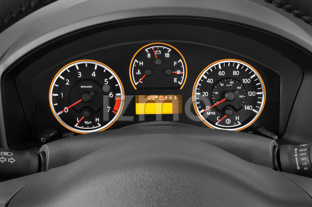 Instrument panel close up detail view of a 2008 Nissan Titan