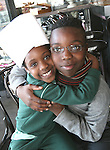 Fionnuala and Melsmith Djakou at the Launch of The Fatima Girls NS Cookery Book in the Eastern Seaboard Restaurant.. .Photo NEWSFILE/Jenny Matthews.(Photo credit should read Jenny Matthews/NEWSFILE)....This Picture has been sent you under the condtions enclosed by:.Newsfile Ltd..The Studio,.Millmount Abbey,.Drogheda,.Co Meath..Ireland..Tel: +353(0)41-9871240.Fax: +353(0)41-9871260.GSM: +353(0)86-2500958.email: pictures@newsfile.ie.www.newsfile.ie.FTP: 193.120.102.198.