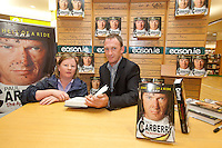 NO REPRO FEE.8/10/2011. Eason, Ireland's leading retailer of books, stationery, magazines and lots more, hosted a book signing by Jockey, Paul Carberry.  Pictured at Eason, O'Connell Street, Dublin is fan Naomi O Reily from Cavan and Paul Carberry who signed copies of his new autobiography One Hell of a Ride. Follow Eason on Twitter - @easons For further information, please contact: Aoife McDonald WHPR 087 4100777 . Picture James Horan/Collins Photos