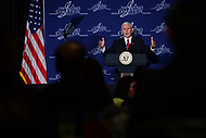 "Washington, DC - March 9, 2017: Vice President Mike Pence speaks at the ""Make Small Business Great Again Policy Summit"" hosted by the Latino Coalition at the J.W. Marriott Hotel in the District of Columbia, March 9, 2017.  (Photo by Don Baxter/Media Images International)"