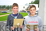 Students from CBS, The Green pictured with their Junior Cert results on Wednesday morning were l-r: Joe Slattery and Max Benner
