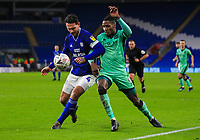 4th January 2020; Cardiff City Stadium, Cardiff, Glamorgan, Wales; English FA Cup Football, Cardiff City versus Carlisle; Sean Morrison of Cardiff City and Aaron Hayden of Carlisle United jostles for possession  - Strictly Editorial Use Only. No use with unauthorized audio, video, data, fixture lists, club/league logos or 'live' services. Online in-match use limited to 120 images, no video emulation. No use in betting, games or single club/league/player publications