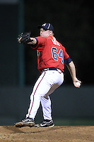 Atlanta Braves pitcher Robert Roth #64 during an Instructional League game against the Houston Astros at Wide World of Sports on September 28, 2011 in Kissimmee, Florida.  (Mike Janes/Four Seam Images)