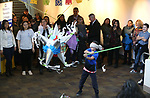 Kids enjoy pinatas during the Posada Celebration at Western Nevada College, in Carson City, Nev., on Saturday, Dec. 16, 2017. The holiday event, hosted by the Latino Cohort, includes traditional Latino food, games and dancing.<br /> Photo by Cathleen Allison/Nevada Momentum