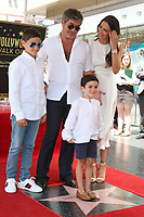 LOS ANGELES - AUG 22:  Adam Silverman, Simon Cowell,  Eric Cowell, Lauren Silverman at the Simon Cowell Star Ceremony on the Hollywood Walk of Fame on August 22, 2018 in Los Angeles, CA