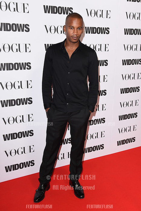 LONDON, UK. October 31, 2018: Eric Underwood at the &quot;Widows&quot; special screening in association with Vogue at the Tate Modern, London.<br /> Picture: Steve Vas/Featureflash