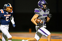 Fayetteville wide receiver Connor Flannigan (2) on his way to score a touchdown after a long pass from Hank Gibbs (5) against Rogers Heritage at Gates Stadium, Rogers, AR on November 1, 2019 / Special to NWA Democrat Gazette David Beach