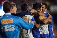 SAO PAULO SP, 20 Julho 2013 - Sao Paulo  X Cruzeiro - Luan do Cruzeiro comemora terceigo gol  durante partida contra o Sao Paulo valida pelo campeonato brasileiro de 2013  no Estadio do Morumbi em  Sao Paulo, neste sabado, 20. (FOTO: ALAN MORICI / BRAZIL PHOTO PRESS).
