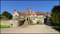 BNPS.co.uk (01202 558833)<br /> Pic:  Hamptons/BNPS<br /> <br /> Sir Winston Churchill's holiday retreat were his discovered his passion for painting has emerged on to the market for rent.<br /> <br /> The great wartime leader spent the summer of 1915 with his wife Clementine and brother Jack at Hoe Farm in Hascombe near Godalming, Surrey.<br /> <br /> At the time, Churchill was reeling from the disastorous Gallipoli campaign which had driven him into a deep depression.<br /> <br /> Clementine, deeply concerned at his troubled state of mind, managed to persuade him to spend his weekends at the majestic 16th century farmhouse.