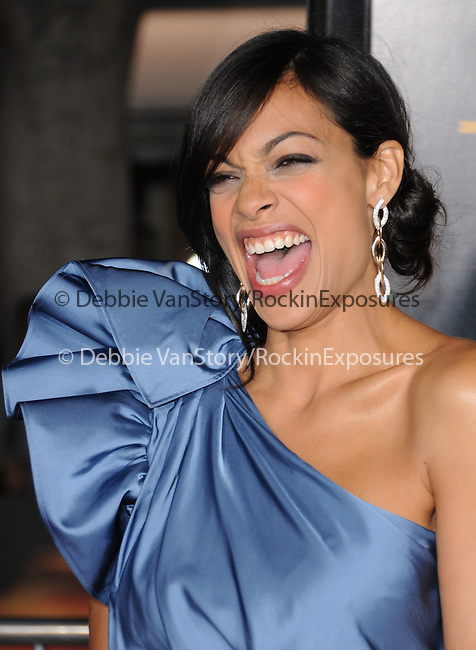 Rosario Dawson attends the Twentieth Century Fox's L.A. Premiere of Unstoppable held at Regency Village Theater in Westwood, California on October 26,2010                                                                               © 2010 Hollywood Press Agency