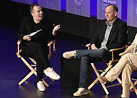"HOLLYWOOD, CA - MARCH 17:  Tim Stack and Tim Minear at PaleyFest 2019 - Fox's ""9-1-1"" panel at the Dolby Theatre on March 17, 2019 in Hollywood, California. (Photo by Scott Kirkland/Fox/PictureGroup)"