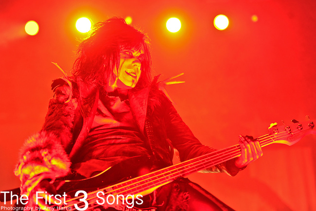 PIGGY D., bassist for Rob Zombie, performs live during the Halloween Hootenanny at Municipal Auditorium in Nashville, Tennessee on October 20, 2010.