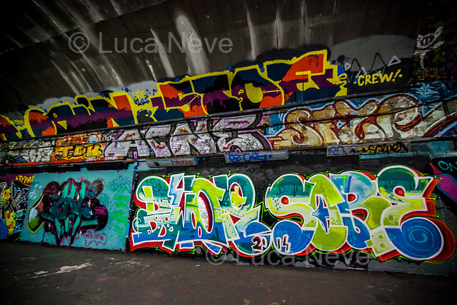 London, 04/08/2014. King Robbo was an English underground graffiti artist, &quot;one of the pioneers of the Graffiti Writing&quot; from the '80s, who became more widely known following a massive graffiti war with the Bristol-based artist Banksy (Channel 4 TV Documentary &quot;Graffiti Wars&quot;: http://bit.ly/1owkSaI). On April 2, 2011 King Robbo sustained a life threatening head injury - allegedly falling from a step ladder while he was making Graffiti - 5 days prior to his exhibition at the Signal Gallery in Shoreditch. King Robbo has died aged 45 on the 31st of July 2014 after spending the last three years in a medically induced coma. Many Graffiti Artists came to Leake Street to pay tribute to King Robbo.<br /> <br /> For more information about the Artist please click here: http://www.teamrobbo.org/ &amp; http://on.fb.me/1zZM0Y4