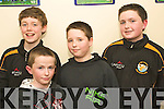 Runners up in the Quiz section of the Sco?r Na Bpaisti North Kerry Finals which took place at The Sports Complex Mountcoal on Saturday night were representing Listowel Emmets GAA Club l/r Bill O'Flynn, Pa Holly, Glynn Carey and Darragh Hughes. ........................................................................................................................................................ ............
