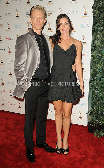 WWW.ACEPIXS.COM . . . . .  ....September 16 2011, LA....Actor Neil Jackson (L) and guest arriving at the 63rd Annual Emmy Awards Performers Nominee Reception held at Pacific Design Center on September 16, 2011 in West Hollywood, California. ....Please byline: PETER WEST - ACE PICTURES.... *** ***..Ace Pictures, Inc:  ..Philip Vaughan (212) 243-8787 or (646) 679 0430..e-mail: info@acepixs.com..web: http://www.acepixs.com