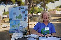 Isola di Pianosa.Pianosa Island.Franca Stampacchia, guida ambientale,del Parco Nazionale Arcipelago Toscano.