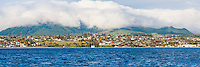 Panoramic Photo of Taupo Town Centre Taken from a Boat on Lake Taupo, Waikato Region, North Island, New Zealand. This panoramic photo of Taupo town centre shows why its worth getting a boat into the centre of Lake Taupo. It is a great, alternative way to see the surrounding landscape.