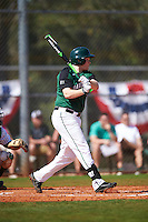Dartmouth Big Green Michael Calamari (3) at bat during a game against the Eastern Michigan Eagles on February 25, 2017 at North Charlotte Regional Park in Port Charlotte, Florida.  Dartmouth defeated Eastern Michigan 8-4.  (Mike Janes/Four Seam Images)