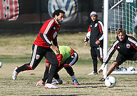 WASHINGTON, DC - NOVEMBER 14, 2012: of DC United during a practice session before the second leg of the Eastern Conference Championship at DC United practice field, in Washington, DC on November 14.