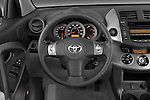 Steering wheel view of a 2008 Toyota Rav 4 Limited SUV Stock Photo