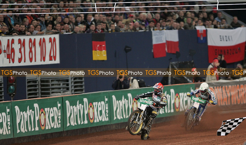 A large crowd at the German Speedway Grand Prix 2007 - German Speedway Grand Prix at the Veltsin Arena, Gelsenkirchen - 13/10/07 - MANDATORY CREDIT: Rob Newell/TGSPHOTO