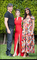 BNPS.co.uk (01202) 558833<br /> Picture: Peter Willows<br /> <br /> **exclusive/not online**<br /> <br /> Isabelle with her dad Sotiris (46) and mum Lisa Papandronicou (47) <br /> <br /> Teenage amputee Isabelle Papandronicou has got a new prosthetic leg that has enabled her to wear heels for the first time, just in time for her school prom. Isabelle (15) from Barnet, London, chose to have her right leg amputated last year after several operations to fix a rare bone condition did not work. She has been wearing an NHS limb since then but has been limited to just flat shoes. After hearing about lifelike prosthetics that can be shaped to fit inside heeled footwear, her family started fundraising to get Isabelle a new leg. She has now been fitted with the &pound;5,633 leg by Dorset Orthopaedic in Ringwood, Hampshire, which she showcased at her year 11 leaver's ball.