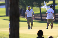 Paul Dunne (IRL) putts on the 16th green during Friday's Round 2 of the 2018 Turkish Airlines Open hosted by Regnum Carya Golf &amp; Spa Resort, Antalya, Turkey. 2nd November 2018.<br /> Picture: Eoin Clarke | Golffile<br /> <br /> <br /> All photos usage must carry mandatory copyright credit (&copy; Golffile | Eoin Clarke)